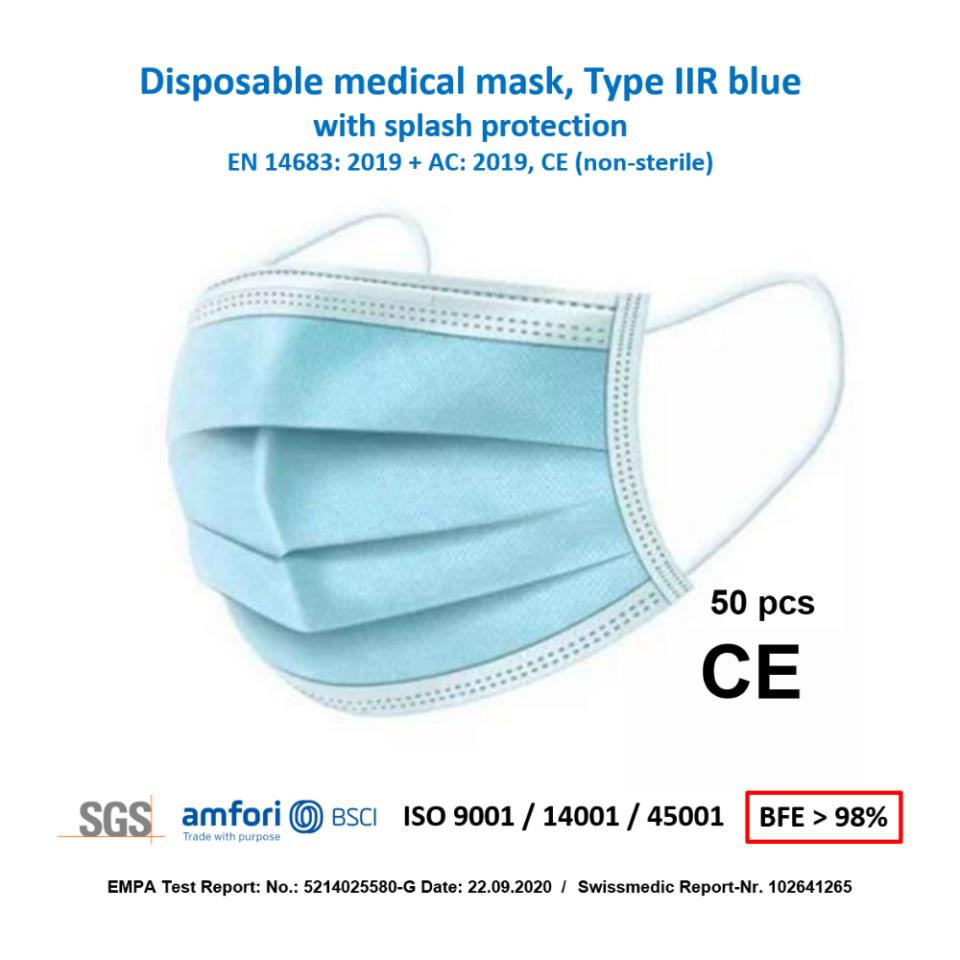 Chirurgische Medizinische Maske SM SSN-non-IIR - 50 stk