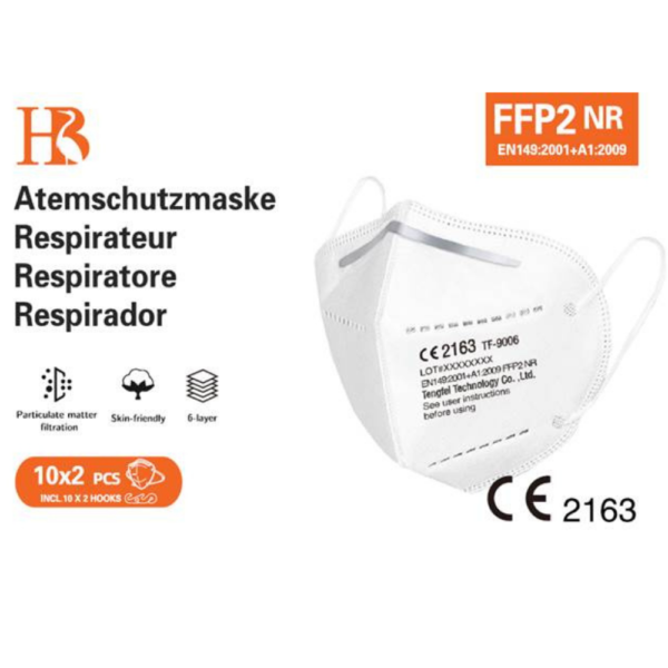 High quality FFP2 mask with CE 2163 kn ktf non