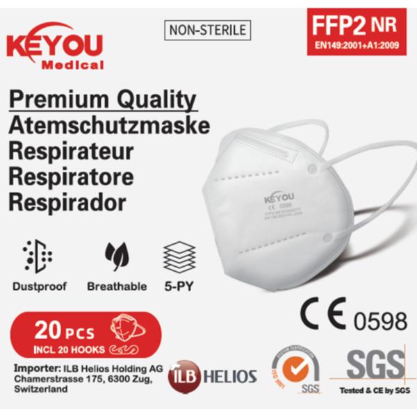Keyou FFP2 face masks 5x4